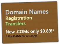Domain Registration starting at 9.89