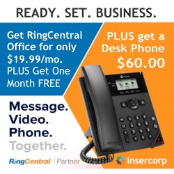 Ready. Set. Business.  Get RingCentral Office in partnership with Insercorp