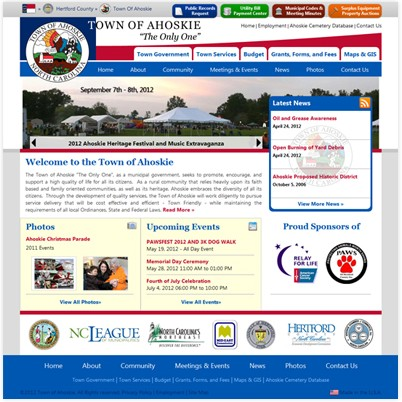 Ahoskie's Website Before and After