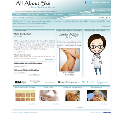 All About Skin Website