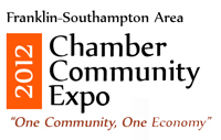 2012 Franklin-Southampton Area Chamber Community Expo Logo designed by Insercorp