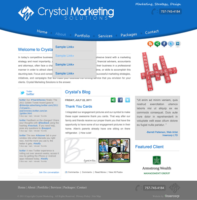 Crystal Marketing Screen Shot