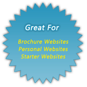 iPlasmaLite is Great for  Brochure Websites, Personal Websites, Starter Websites, and More!