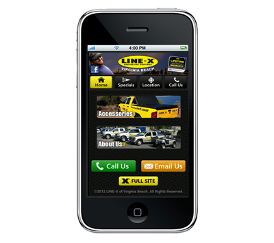 Line-X of Virginia Beach Mobile Website