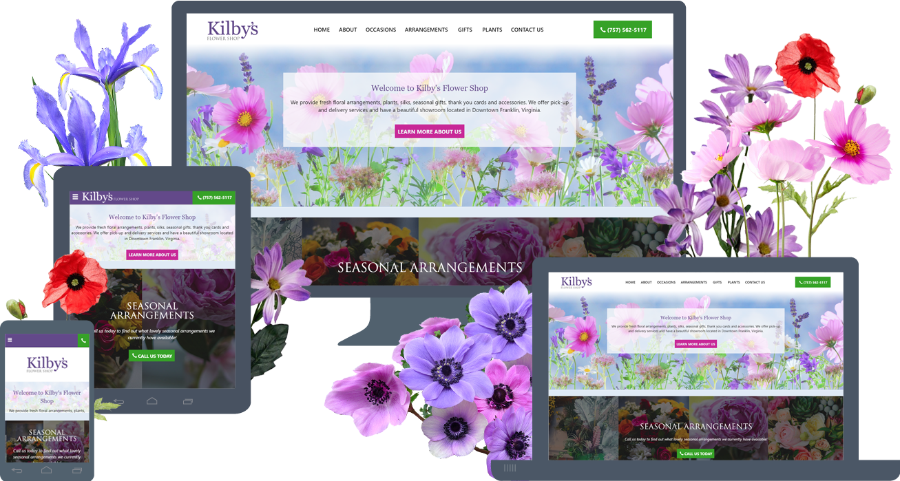 Responsive Website Design for KilbysFlowerShop.com
