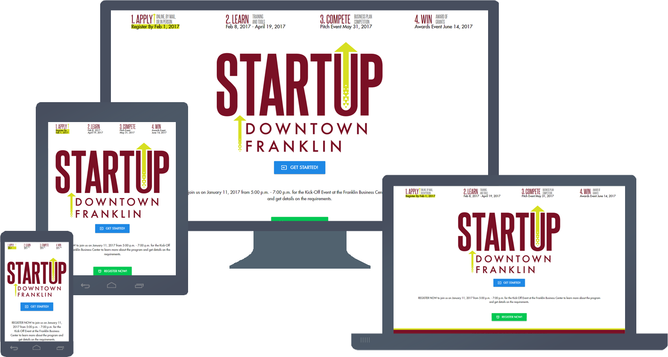 Responsive Website Design & Development of STARTUPDowntown.com
