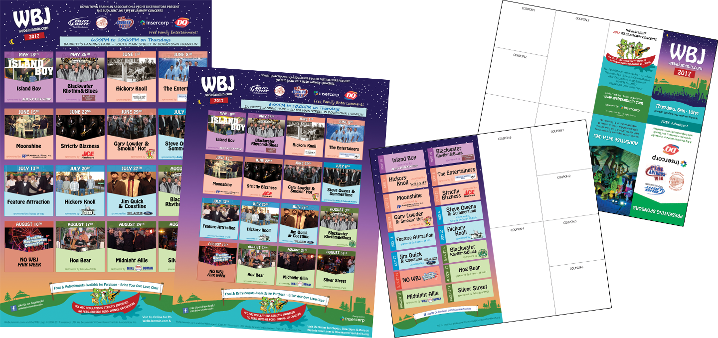 WBJ 2017 Poster, Flyer, and Pocket Schedule Design