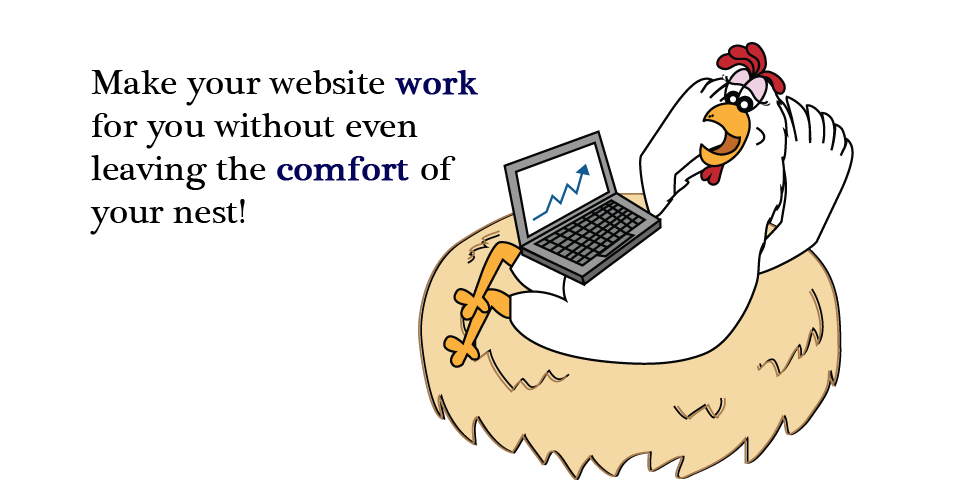 Make your website work for you without even leaving the comfort of your nest!