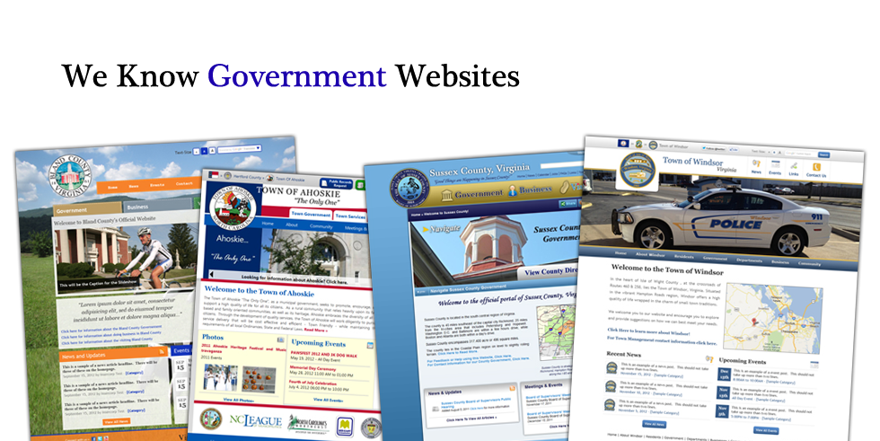 We Know Government Website Design