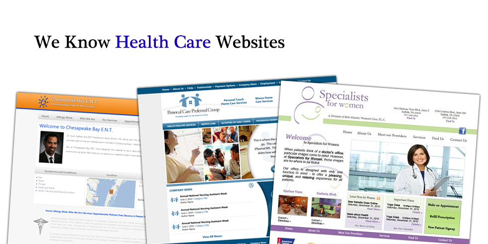 We Know Health Care Web Design