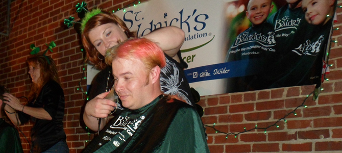 David Burton as part of Team Insercorp at St. Baldrick's
