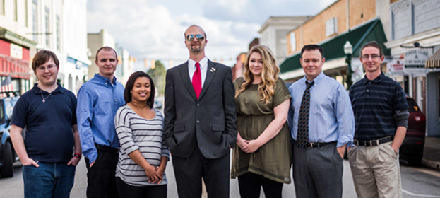 Some of the Insercorp Team, from Left to Right: Benjamin Woods, Justin Mason, Rochelle Scott, Tim Bradshaw, Summerlyn Hemmis, David Burton, Les Johnson
