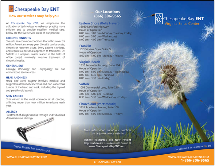 Tri-Fold Brochure (Outside)