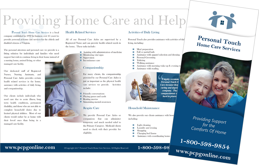 Personal Touch Tri-Fold Brochure Design