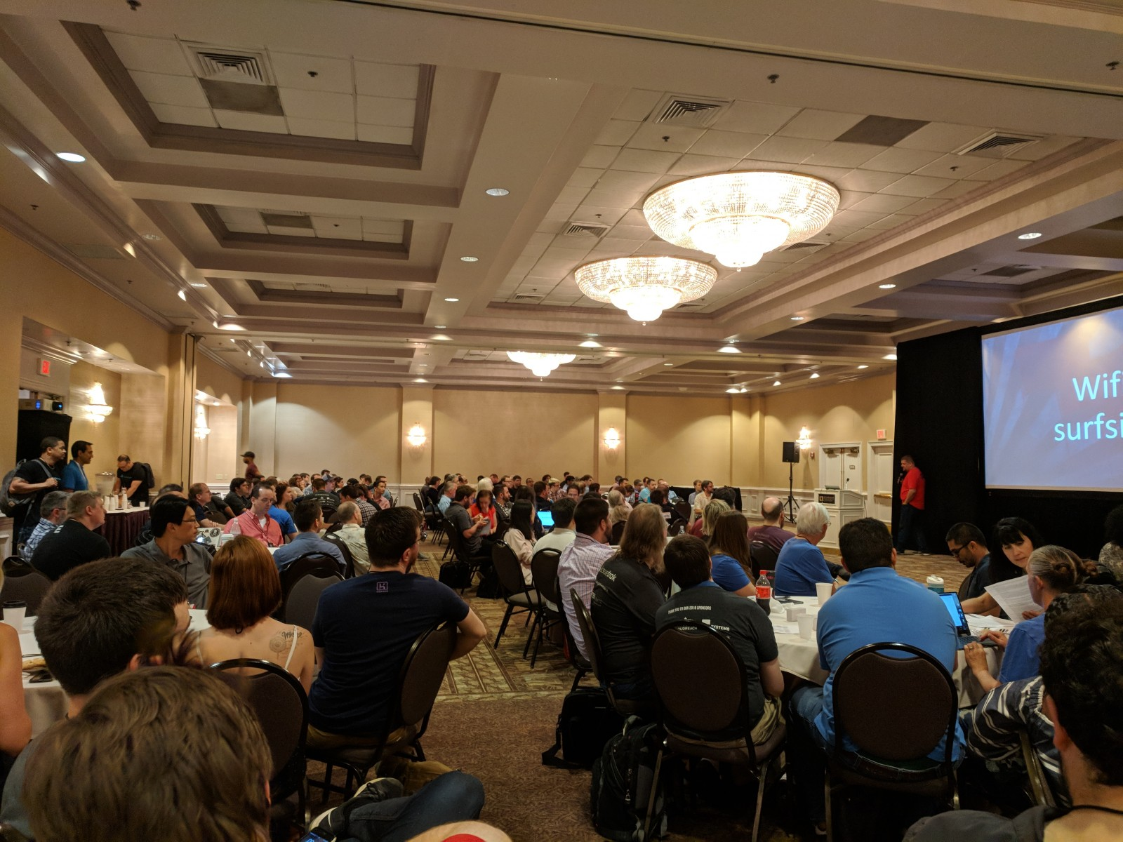 RevolutionConf 2018 opening remarks being held in the Atlantic Ball Room