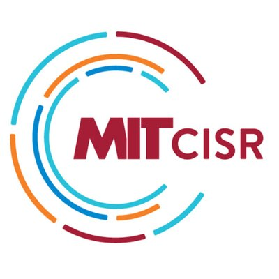 Center for Information Systems Reserach, Sloan School of Management, MIT