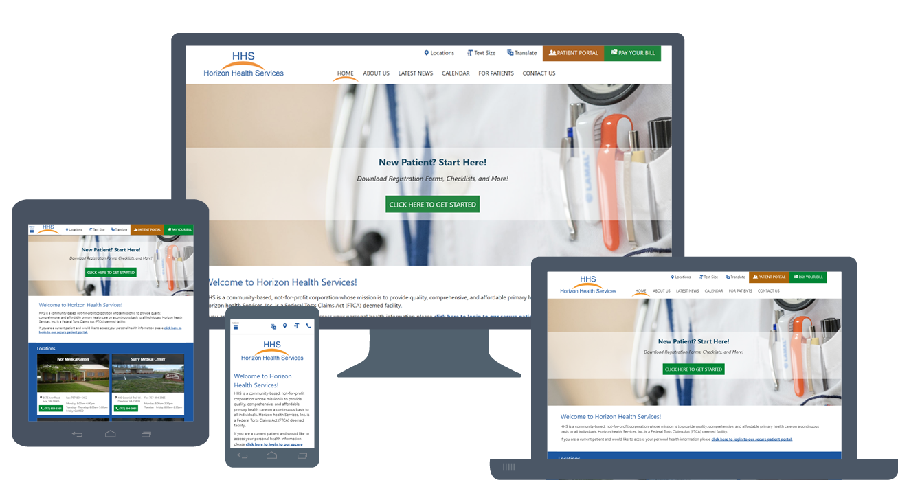 Website Launch: Horizon Health Services
