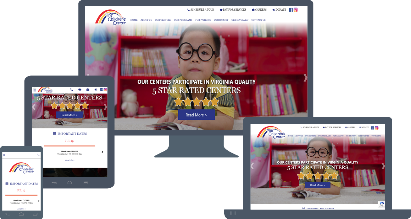 Website Re-Design: ChildrensCenterVA.com (2018)