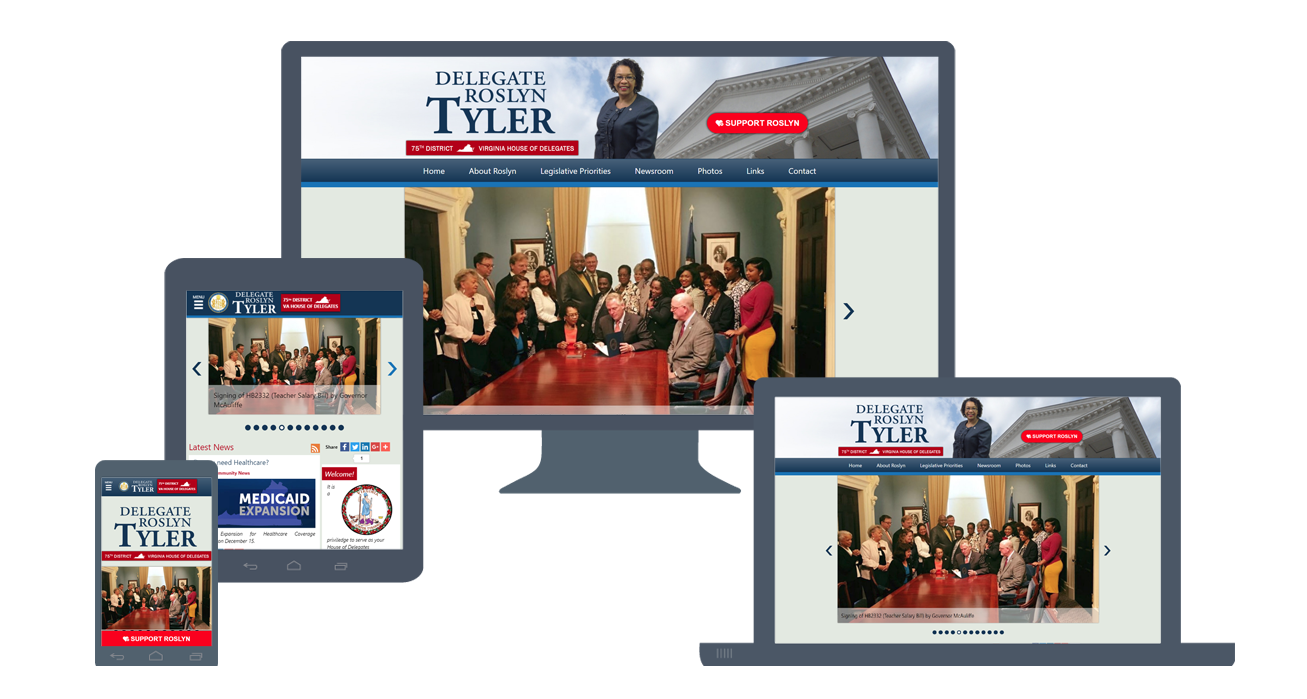 Website Re-Design: DelegateTyler.com