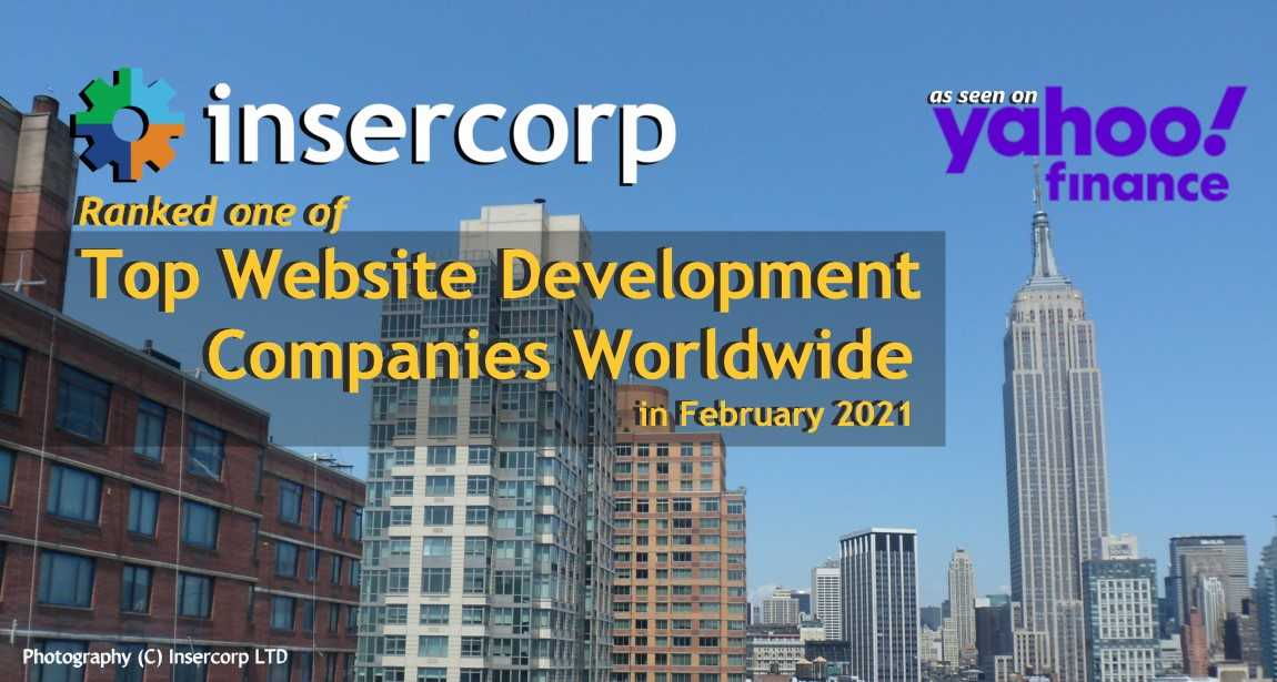 Insercorp Ranked among Top Web Development companies in February 2021