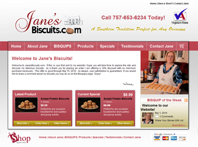 JanesBiscuits.com